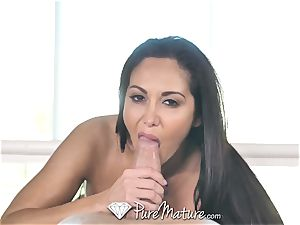 PureMature lubed up rubdown pulverize with milf Ava Addams