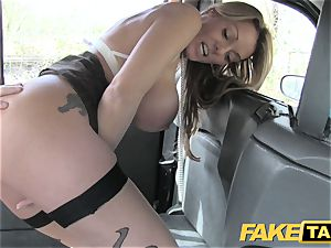 faux taxi fantastic Welsh cougar with scorching body