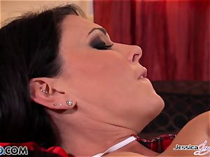 Jessica Jaymes and Nikki boink each other, huge hooters