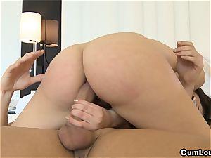 Valentina Nappi railing stiff fuckpole up her anus
