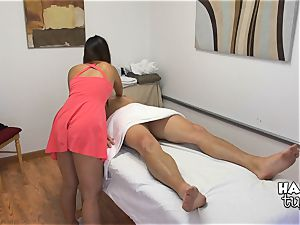 horny little asian honey Katsuni riding her patients lollipop
