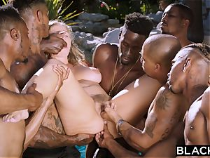 BLACKED Lena Paul first-ever multiracial gang-bang