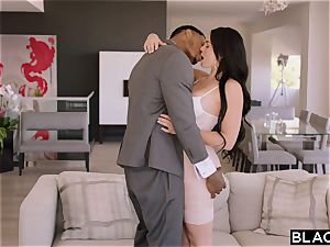 BLACKED brown-haired luvs raunchy big black cock