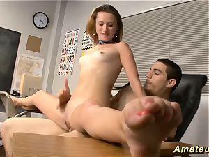 Flexi schoolgirl likes acrobatic fuck-fest