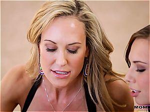 Moms train romp - mummy tempts her cherry stepson