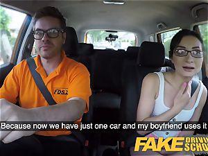 fake Driving school hot Italian nymphomaniac minx