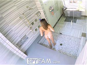 SpyFam Step brutha spies on step sista Ashley Adams