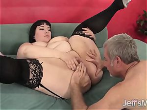chubby Alexxxis Allure Takes a massive trunk