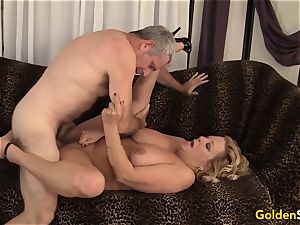 grandma takes a large man-meat and jism in her hatch