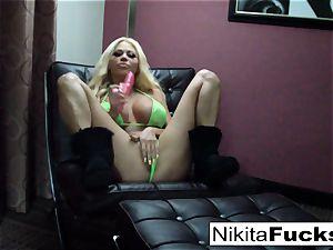 massive hooter Nikita plays with herself