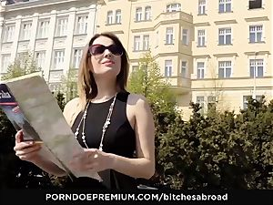 whores ABROAD - Foreign Russian stunner sprays rigid