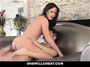 SheWillCheat red-hot wife Cheats with spouses fucking partner