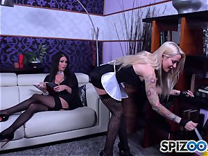 steamy maids Jessica Jaymes and Helly Mae Hellfire